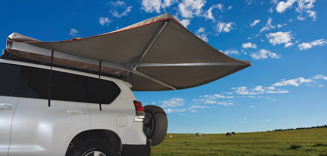 Howling Moon Swing Arm - A Great Idea for Shade and Shelter #CampWorld