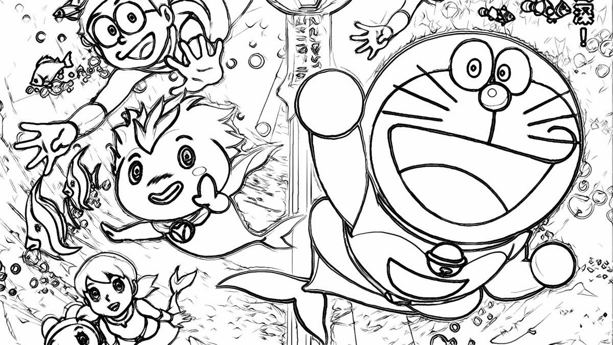 Free Online Printable Coloring Pages How to Draw HD Videos Doraemon