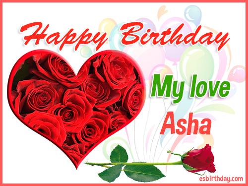 Happy Birthday Asha Happy Birthday Images For Name