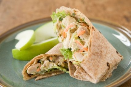 Coconut Curry Chicken Wraps #healthylunchwraps