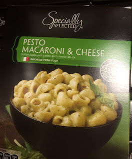 A box of Specially Selected Pesto Macaroni and Cheese, from Aldi