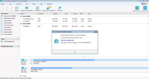 easeus partition master 11.9