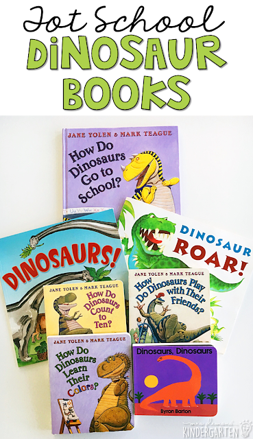 5 great books to read aloud for a dinosaur theme. Perfect for tot school, preschool, or even kindergarten.