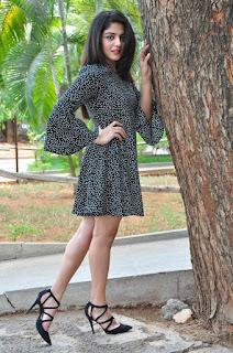 Actress Wamiqa Gabbi Stills in Short Dress at Nannu Vadili Neevu Polevule Pressmeet 0046