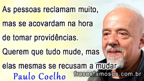 Frases De Paulo Coelho Sobre Mudar Frases Famosas