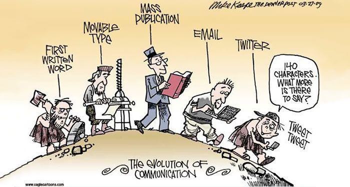 #12. Communication - 15 Funny Cartoons To Prove Evolution Has A Twisted Sense Of Humor.