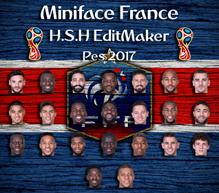 PES 2017 Miniface France World Cup 2018
