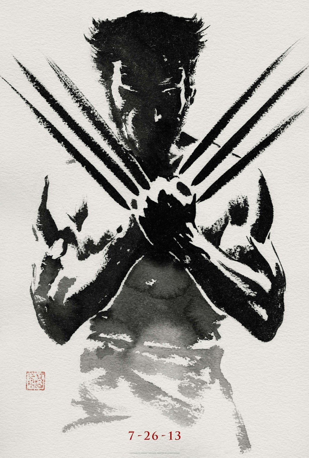 Few Really Plays A Role As The Wolverine Easily Has Best Series Of Posters For Franchise Before We Even Get To Very Cool Black And White