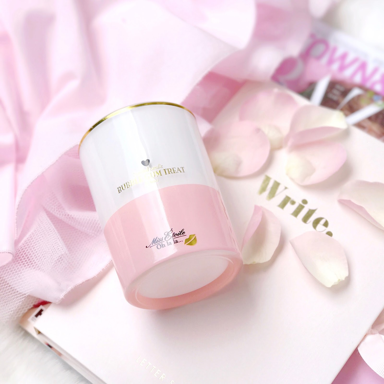 Miss Etoile Bubblegum Treat Candle | Love, Catherine