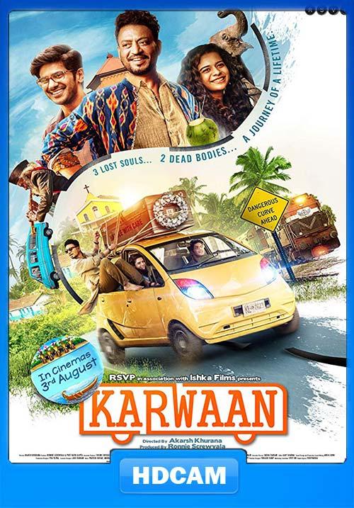 Karwaan 2018 Hindi PREDvD x264 | 480p 300MB | 100MB HEVC Poster
