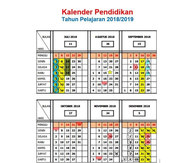Download Kalender Pendidikan 2018 2019 Pedoman Lengkap Muttaqin Id