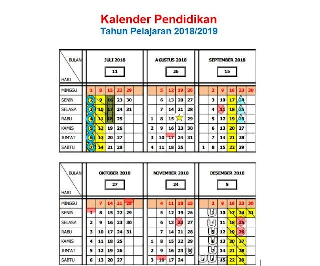 Dengan akan berakhirnya tahun pelajaran  Download Kalender Pendidikan 2018/ 2019 (Pedoman LENGKAP)
