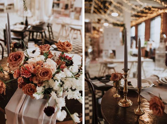 Uroczystość Targi Ślubne. Szarotka. Alternatywne Targi Ślubne. Dekoracje, nakryty stół, kwiaty na ślub, florystyka.