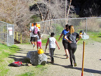 Hikers who illegally trespassed on Vulcan property to access the closed Fish Canyon Trail, Angeles National Forest
