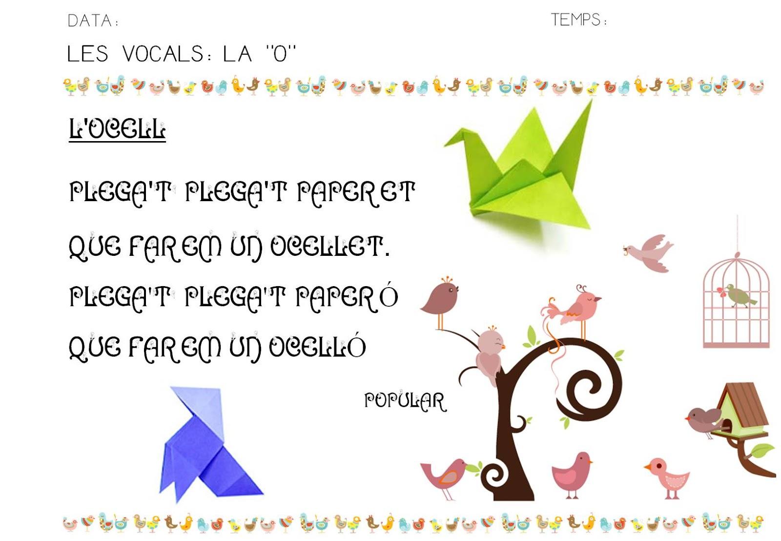 Poesia De Las Vocales: QUÉ HACEMOS HOY EN EL COLE?: LAS VOCALES