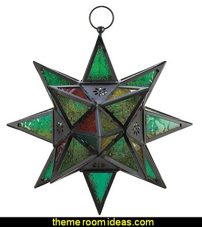 Moroccan Style Star Shaped Candle Lantern