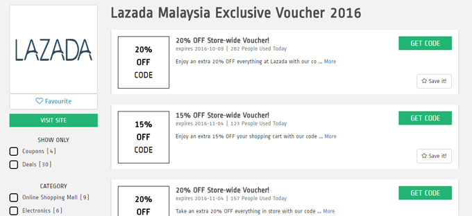 Lazada Exclusive Voucher October 2016