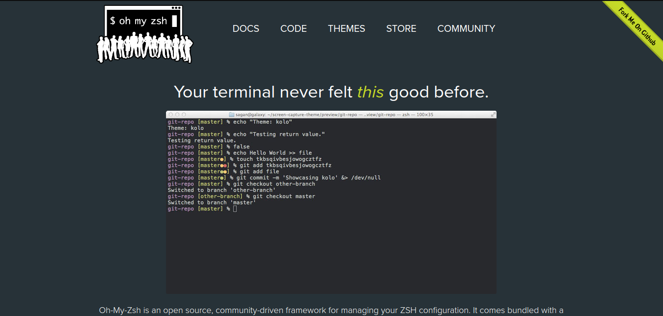 Huan's Blog: Oh My Zsh - Your terminal never felt this good before