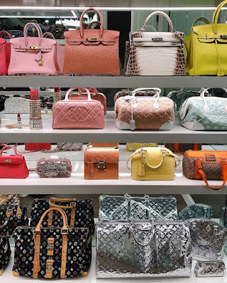 Kylie Jenner bag closet
