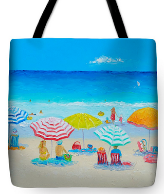 Tote Bag with a coastal theme