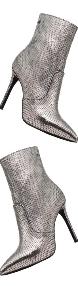 MICHAEL MICHAEL KORS Blaine Metallic Embossed Leather Ankle Boot