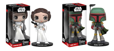 Star Wars Wobblers Bobble Heads by Funko – Princess Leia & Boba Fett