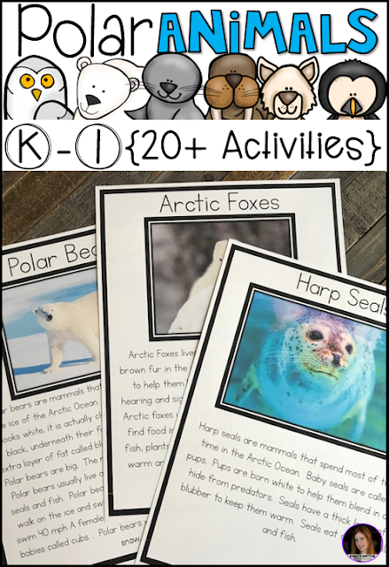 Are you looking for a factual unit to introduce polar animals in your kindergarten and first grade classroom?  Our polar animal unit is just what you need!