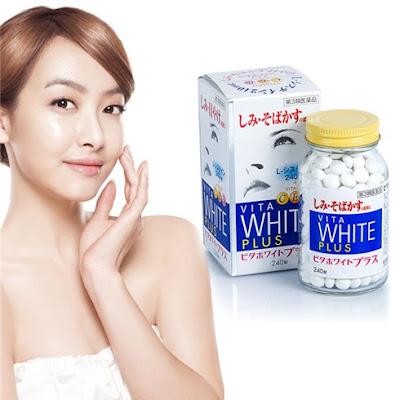 Cách dùng viên uống trắng da trị nám vita white plus