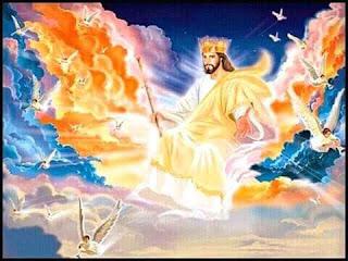 jesus christ on his throne