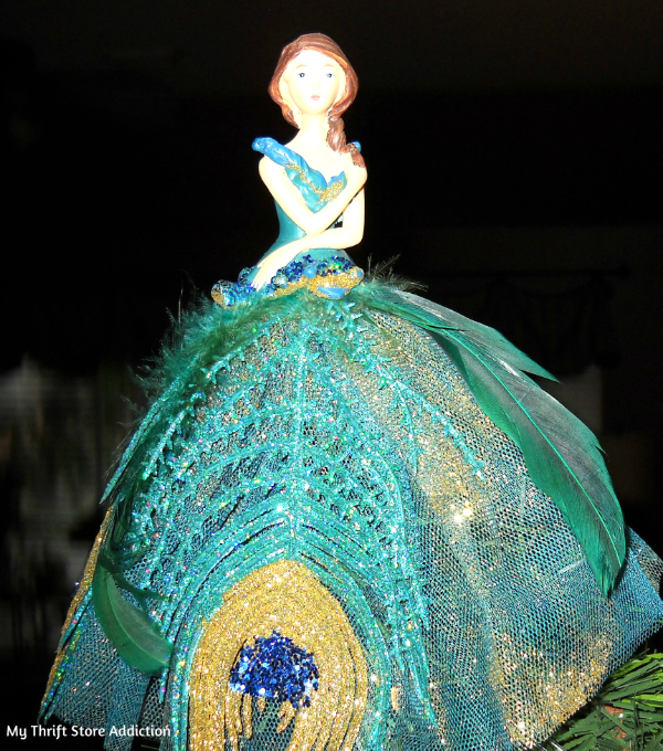 Peacock skirt angel