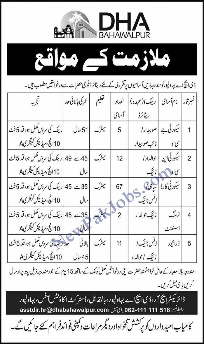 DHA Bahawalpur Jobs 17 Feb 2019