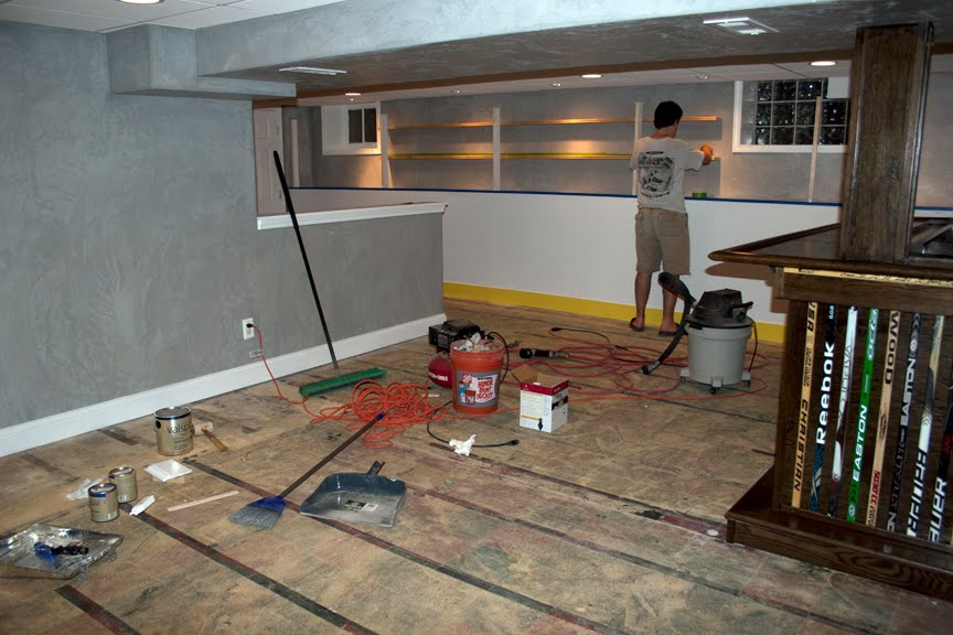 hockey haven the do it yourself basement remodel when a bad pickup line is actually true. Black Bedroom Furniture Sets. Home Design Ideas