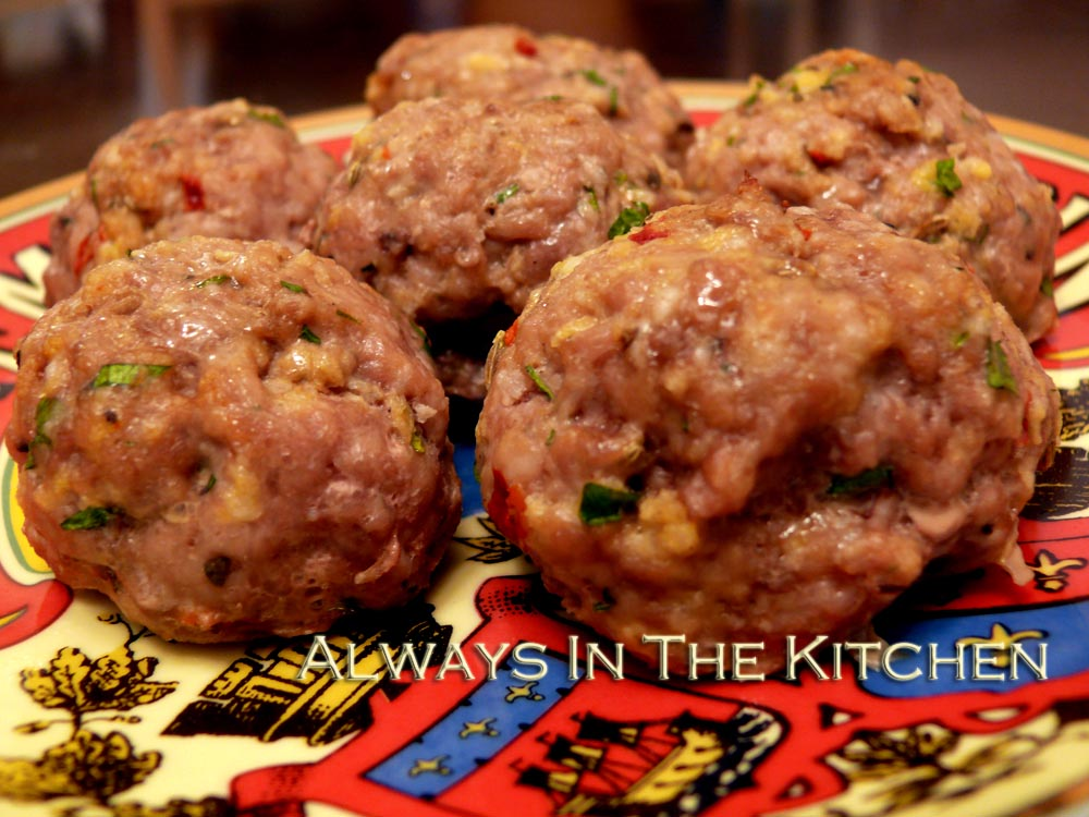 Dawna In The Kitchen Meatballs Pork Turkey Edition