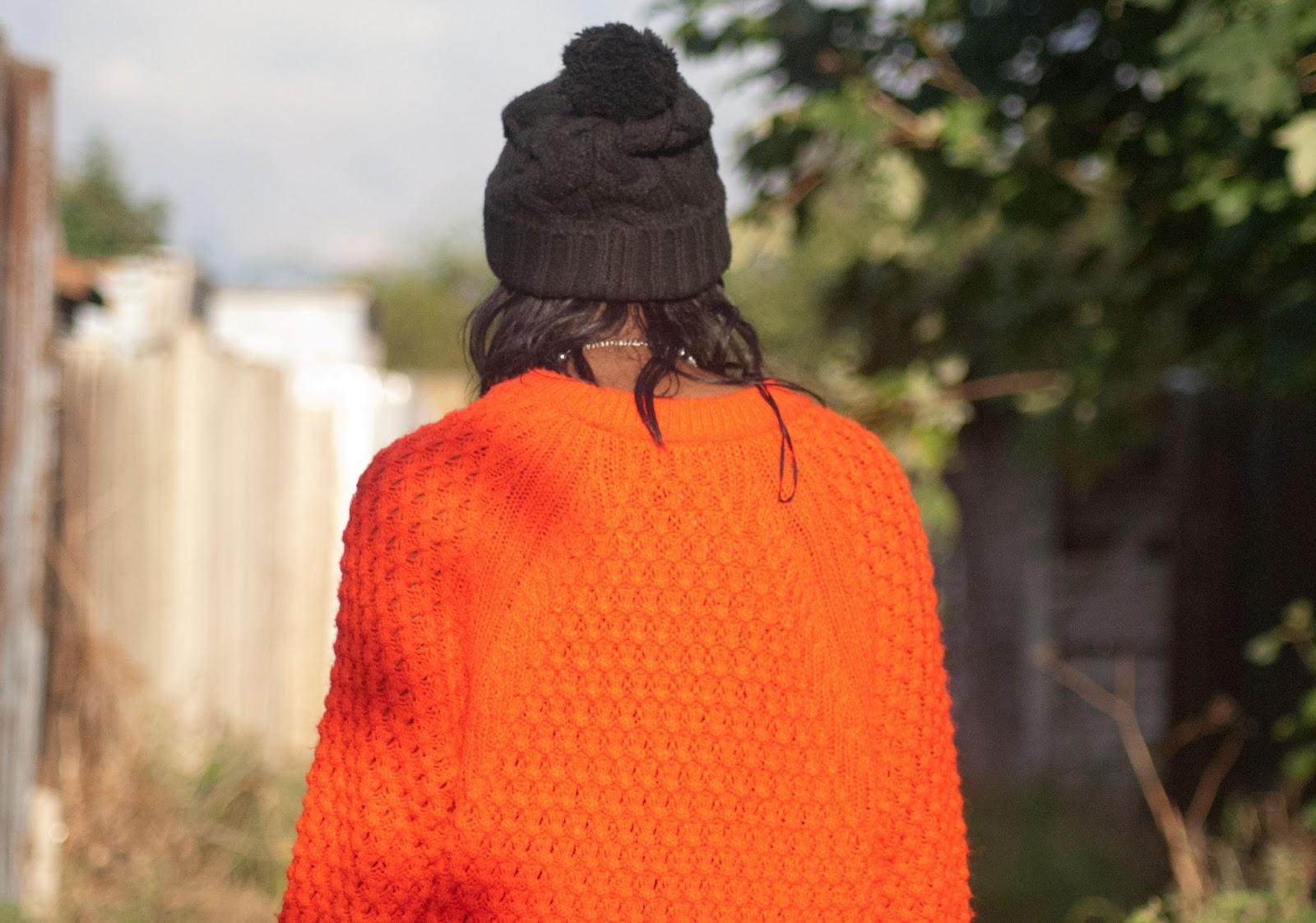 H&M orange knit jumper - 100 Ways to 30