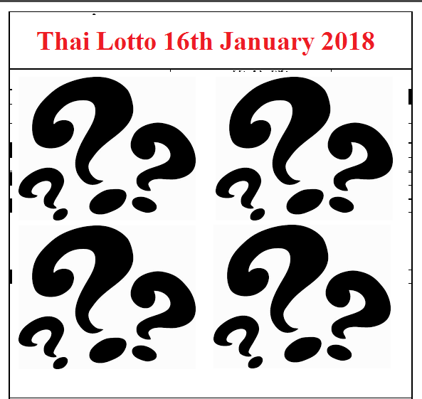 Thai Lotto Results 16th January 2018