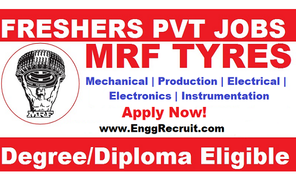 MRF Tyre Recruitment 2019