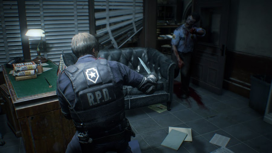 resident evil 2 remake demo leon kennedy raccoon city police department zombie