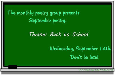 Monthly poetry group presents September poetry based on the theme of Back to School. | www.BakingInATornado.com | #poetry #poems
