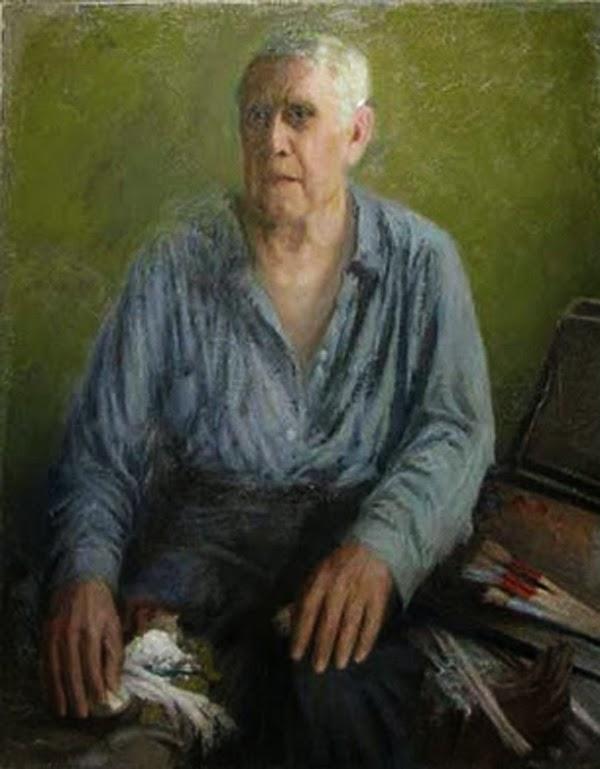Leon Alexandru Biju, Self Portrait, Portraits of Painters, Fine arts, Alexandru Biju