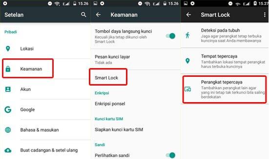 Aktifkan Perangkat Terpercaya Android