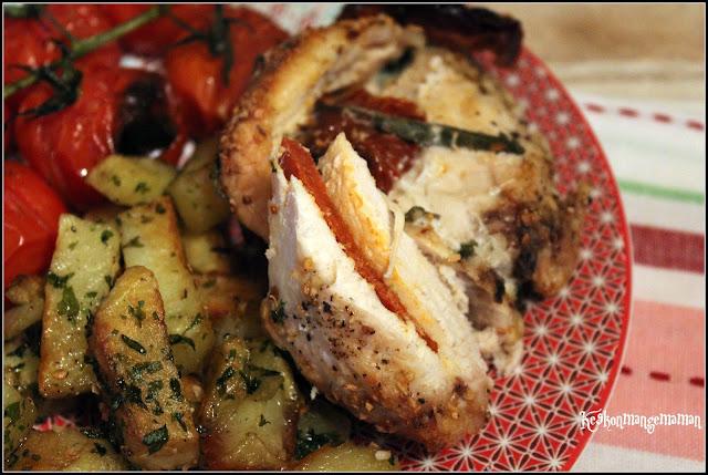 Keskonmangemaman battle food 43 filets de poulet au four au chorizo et aux tomates s ch es - Filet de poulet au four ...