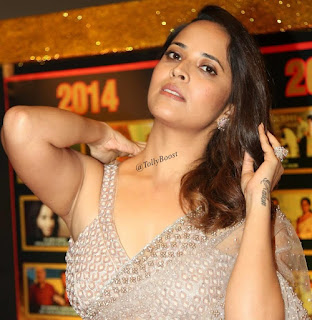 Beautiful Indian TV Model Anasuya Long Hair Face Closeup (11)