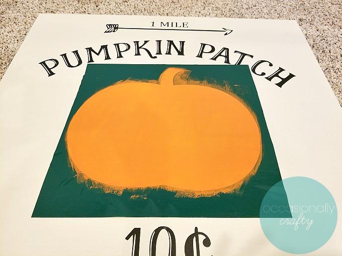 DIY Copycat Pumpkin Patch Wooden Sign