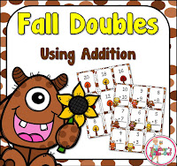 Free Fall Doubles Task Cards