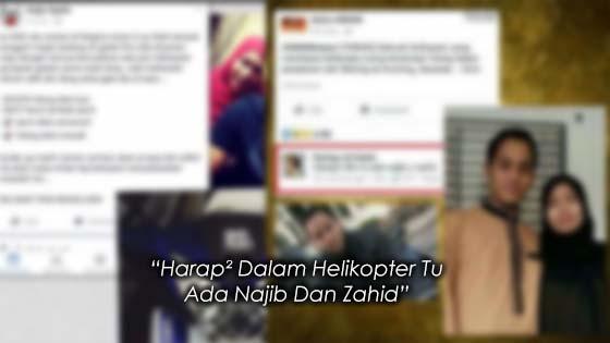 """Harap² Dalam Helikopter Tu Ada Najib Dan Zahid"""