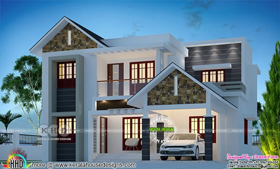 1790 sq-ft 4 BHK modern house plan