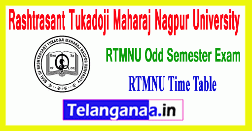 RTMNU Rashtrasant Tukadoji Maharaj Nagpur University Winter Semester Exam Time Table