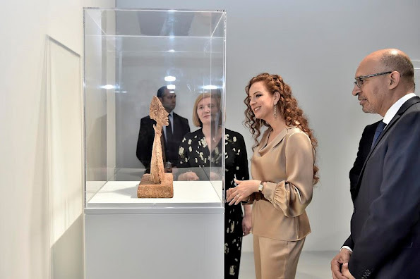 Princess Lalla Salma of Morocco attended the opening of the Swiss sculptor Alberto Giacometti exhibition at the Mohammed VI Museum style royals, newmyroyals, wedding dresses