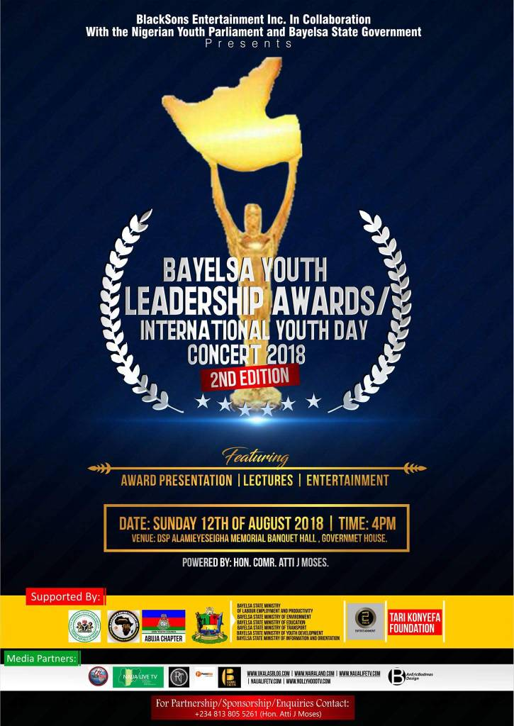 BAYELSA YOUTH LEADERSHIP AWARD/INTERNATIONAL YOUTH DAY CONCERT 2018(2ND EDITION)