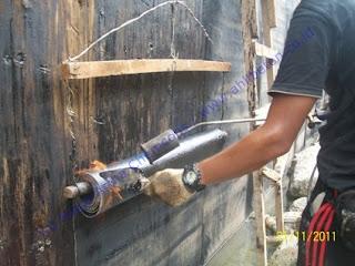waterproofing dinding retaining wall